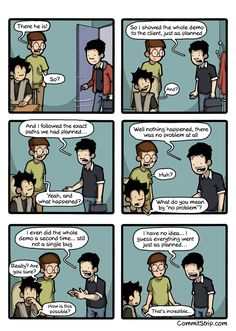 When Murphy's law fails | CommitStrip - Blog relating the daily life of web agencies developers