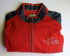 88d867b6 Tommy Bahama NFL San Francisco 49ers Football Goal Line Full Zip Jacket XL  NEW   eBay