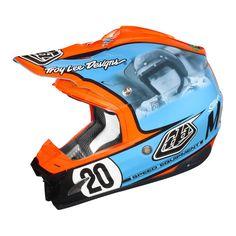"Gulf motocross helmet ""Steve McQueen"" edition"