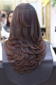 Womens Hair Highlights Tips 56 Ideas Haircuts For Long Hair With Layers, Haircuts Straight Hair, Long Layered Haircuts, Long Hair Cuts, Medium Hair Styles, Curly Hair Styles, Wedding Hairstyles For Long Hair, Gorgeous Hair, Balayage Hair