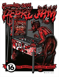 Pearl Jam 2016 Greenville Regular Edition Poster