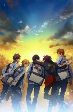 Rei, Nagisa, Haru, Rin, Makato   Free!