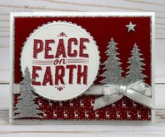 I'm sharing the Carols of Christmas Bundle with Peace on Earth as the focal point for my card today. I know I have shared this set with you many times, but it is such a great bundle that I hope you en