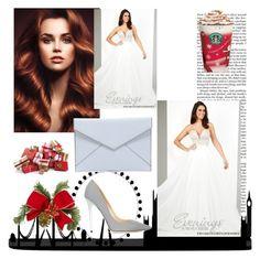 """Sweetheart Neckline Prom Dress Tony Bowls 11640 White"" by chrissybarby ❤ liked on Polyvore featuring Nicki Minaj, Tony Bowls, Rebecca Minkoff and Jimmy Choo"