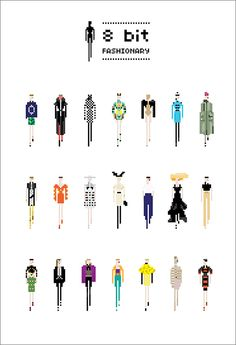 8 bit-fashionary pixel illustrations from the 2011 & 2010 seasons.