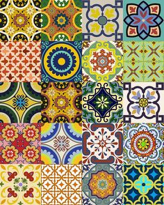 Mexican Decorative Tiles Barcelona  Blasco De Garay 007 E