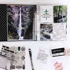 Not sure how much I'll get done in my 6x8 PNW travel album before the year is out, but it felt so good to get a couple pages done as well as being reminded of one amazing trip! Is it time for another?  #wanderlust #travel #scrapbooking #minialbum #simplestories #messybox #stampaddict #feedyourcraft #christineherrin #studiocalico #mtwashitape