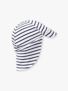 Chapeau blanc à rayures bleu marine bébé garçon Beach Kids, Bleu Marine, Collection, Stripes