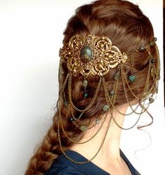 Hair Jewelry Acessories The Best Ever Hair Ornaments You May Seen Ever - Slydor - Your Daily Dose Of Fun. - Here is the list of some beautiful Hair ornaments . Hair Accessories For Women, Fashion Accessories, Head Jewelry, Jewellery, Twist Headband, Circlet, Fantasy Jewelry, Fantasy Hair, Fantasy Makeup