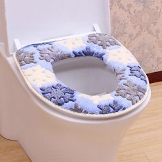 Free Shipping Sticky Toilet Mat Soft Warm Seat Heated Closestool Pad Washable Cover