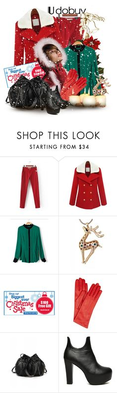 """Big Christmas Sale!!!"" by keti-lady ❤ liked on Polyvore featuring Causse, ankle boots, red, gloves, green, pants, 2012, sale, black and blouses"