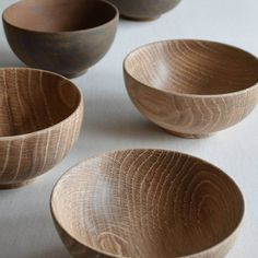 Japanese oak bowls