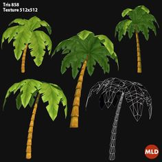 Low Poly Palm