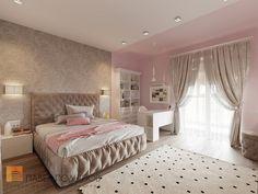 Фото: Дизайн детской для девочки - Интерьер квартиры в стиле минимализм, ЖК «Классика», 130 кв.м.