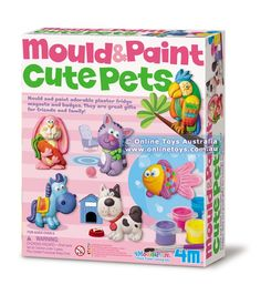 4M - Mould and Paint Cute Pets Science toy manufacturered by 4M Toys. 4M products can be bought at http://inspiringtoys.co.uk/science-toys-and-games/