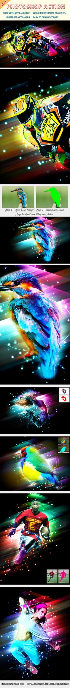 Dazzling Light Effect Photoshop Action - Photo Effects Actions