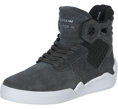 690fd08150 Supra Sktop IV Mens Grey Suede High Top Lace Up Sneakers Shoes 11  gt  gt