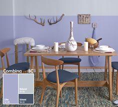 Usar distintos tonos de un mismo color le dara modernidad y dinamismo a tus espacios. #Combina3C