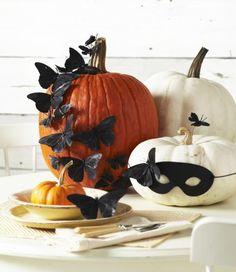 No-carve pumpkin fun! More pumpkin decorating ideas: http://www.midwestliving.com/homes/seasonal-decorating/pumpkin-decorating-projects/