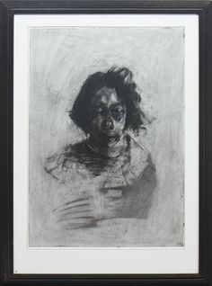 Artwork by Craig Mulholland, FACE STUDY, Made of charcoal on paper