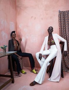 Ajak Deng & Maria Borges Front 'Africa Rising' In Ed Singleton Images For Models.com — Anne of Carversville