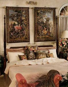 Modern interior decorating with tapestry wall hangings adds luxury and an exquisite look to room decor. Fabulous wall tapestries in many different styles enhance home interiors and bring elegance and beautiful texture into rooms. Gorgeous wall decorations, tapestry hangings can be used as throws and