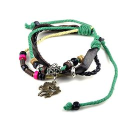 Yantu 1pc Wood Multicolor Beads Adjustable Drawstring Wirstband Leather Horse Bracelet YANTU http://www.amazon.com/dp/B00N76G1LQ/ref=cm_sw_r_pi_dp_O6Wpvb0140NX6