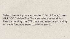 How To add font in microsoft word