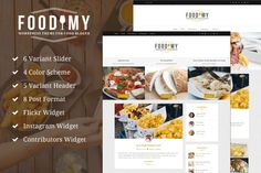 Foodimy - WP Theme for Food Blogger by Envalabs on Creative Market