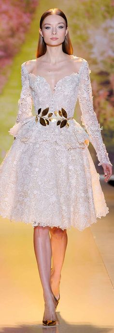 View all the catwalk photos of the Zuhair Murad haute couture spring 2014 showing at Paris fashion week. Read the article to see the full gallery. Dress Vestidos, Women's Dresses, Pretty Dresses, Short Dresses, Wedding Dresses, Lace Wedding, Fashion Dresses, Paris Wedding, Zuhair Murad