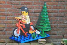 Lego fiets, frescolithe op mdf.