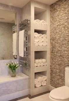 1000 images about cool towel storage ideas on pinterest towel racks towel bars and holders - Simple ways making bathroom feel like mini spa ...
