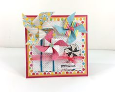 you're so  cool - Scrapbook.com - pretty pinwheels on this handmade card.