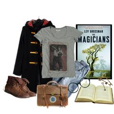 The Magicians by Lev Grossman by beautifulnoice on Polyvore featuring J.Crew, FOSSIL, Jeepers Peepers and Wrangler