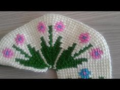 TUNUS İŞİ PATİK ÖN KISIM - YouTube Soft Slippers, Deco, Diy And Crafts, Crochet Hats, Make It Yourself, Beads, Window Treatments, Curtains, Youtube