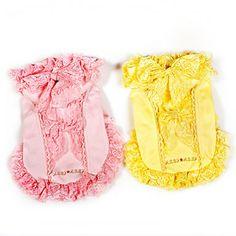 Sontuosi bowknot Abiti stile con cappuccio per cani (colori assortiti, XS-XL) – EUR € 17.65