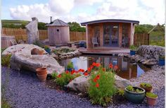 The Wild Spa in June. So pleased to see all the wild life friendly planting bursting into colour around this beautiful relaxation zone. Crazy Houses, Weird Houses, Co Housing, Spa Treatments, Nature Reserve, Little White, Bird Watching, Acre, Gazebo