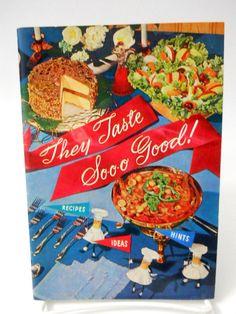 "1955 Planter Peanut Oil ""They Taste So Good"" Cookbook Recipes Ideas Hints"