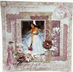 Image result for Wedding Scrapbook Layouts