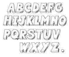 molde de alfabeto 3d