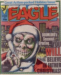 Not really a superhero, but. I used to love Doomlord. Even the awful seasonal specials. Comic Art, Comic Books, Christmas Comics, Horror Monsters, Sci Fi Horror, Old Comics, Books For Boys, Science Fiction Art, Vintage Books