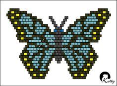 Butterfly Cross Stitch, Butterfly Pattern, Butterfly Wings, Peyote Patterns, Beading Patterns, Beaded Brooch, Beaded Jewelry, Jewellery, Seed Bead Crafts
