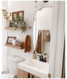 Bad Inspiration, Home Decor Inspiration, Decor Ideas, Small Bathroom Inspiration, Bathroom Interior Design, Modern Interior, Upstairs Bathrooms, Master Bathroom, Washroom