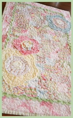 Fresh Poppy Design Quilt Patterns: Spring quilted runner....