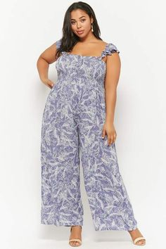 8b94a0f908503 Forever 21 Plus Size Boho Me Feather Print Jumpsuit - Plus Size Fashion for  Women - Ad