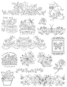 Amazon.com: Aunt Martha's Flowers and Butterflies Embroidery Transfer Pattern Book, Over 25 Iron On Patterns: Arts, Crafts & Sewing