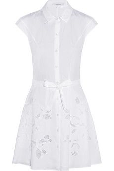 Carven white embroidered cutout cotton-piqué dress $519, get it here: http://rstyle.me/~2h53K