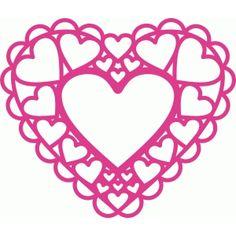 Silhouette Design Store: doily hearts