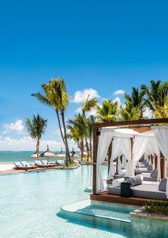 One&Only Le Saint Géran, Pointe de Flacq, Mauritius. Beach Honeymoon Destinations, Best Honeymoon, Vacation Places, Dream Vacations, Dream Vacation Spots, Honeymoon Planning, Romantic Honeymoon, Honeymoon Ideas, Romantic Vacations