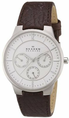 Skagen Men's 331XLSL1 Steel Brown Leather Multi-Function Watch Skagen. $80.00. Stainless-steel case; White dial; Day function. Quality Japanese-Quartz movement. Water-resistant to 99 feet (30 M). Mineral crystal. Case diameter: 38 mm. Save 45%!